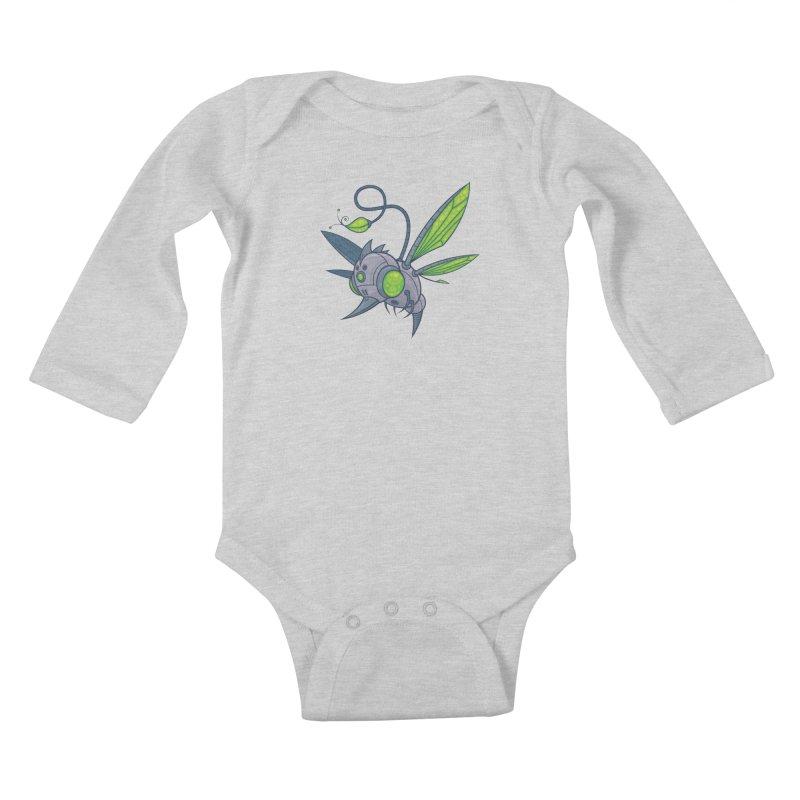 HUMM-BUZZ Kids Baby Longsleeve Bodysuit by Fizzgig's Artist Shop