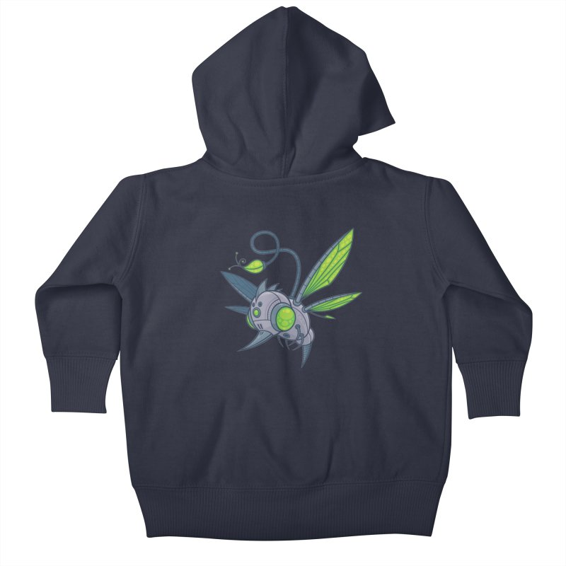HUMM-BUZZ Kids Baby Zip-Up Hoody by Fizzgig's Artist Shop