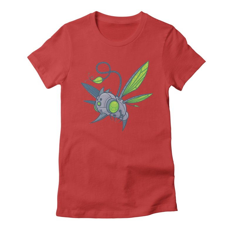 HUMM-BUZZ Women's Fitted T-Shirt by Fizzgig's Artist Shop