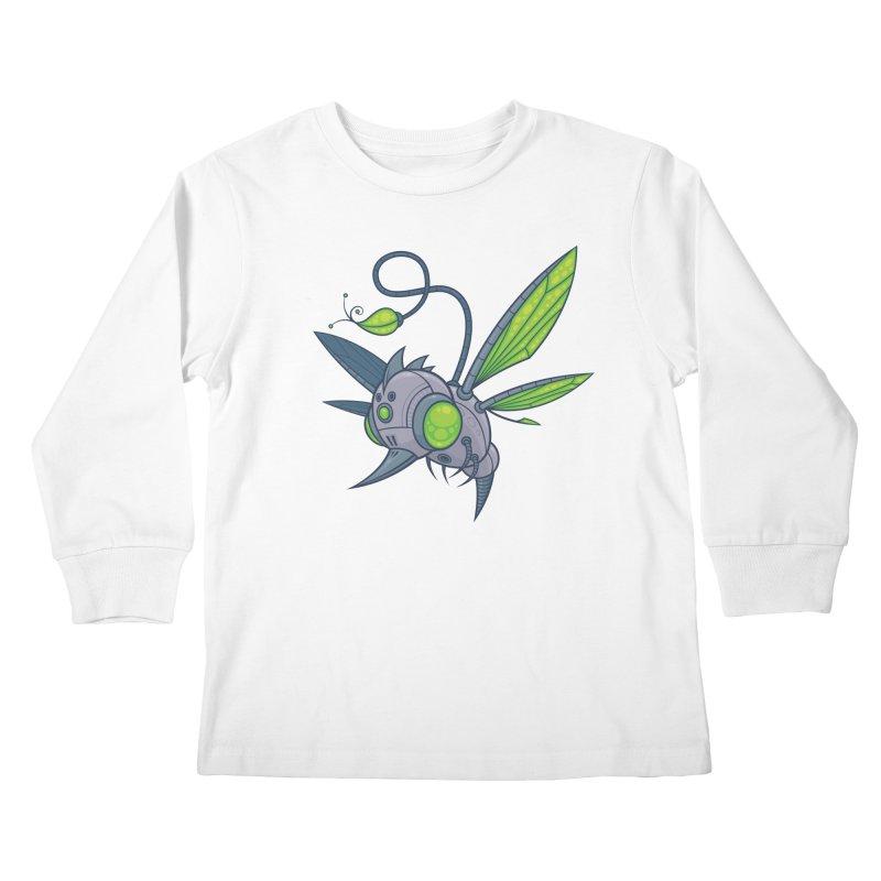 HUMM-BUZZ Kids Longsleeve T-Shirt by Fizzgig's Artist Shop