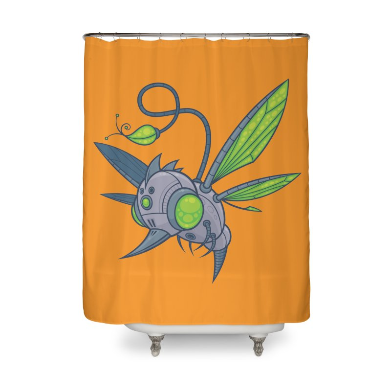 HUMM-BUZZ Home Shower Curtain by Fizzgig's Artist Shop