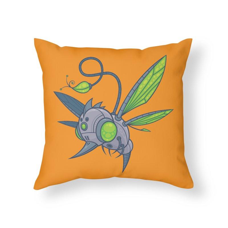 HUMM-BUZZ Home Throw Pillow by Fizzgig's Artist Shop