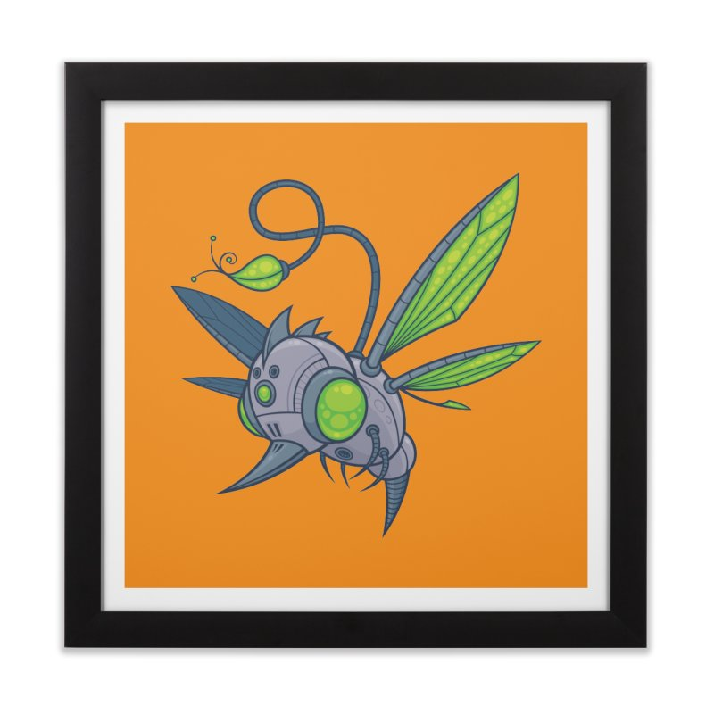 HUMM-BUZZ Home Framed Fine Art Print by Fizzgig's Artist Shop