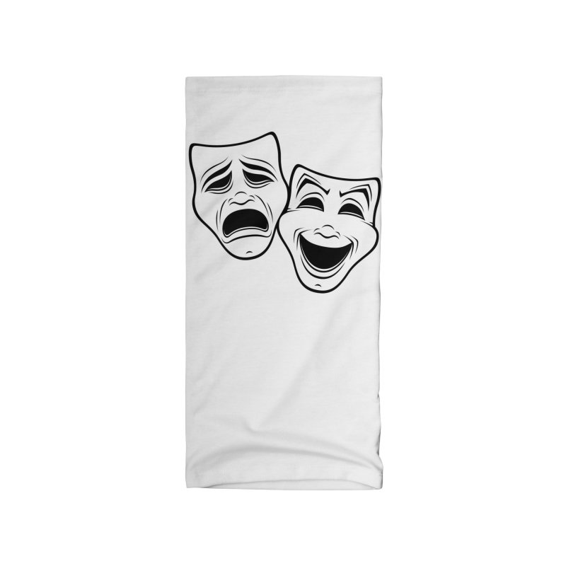 Comedy And Tragedy Theater Masks Black Line Accessories Neck Gaiter by Fizzgig's Artist Shop