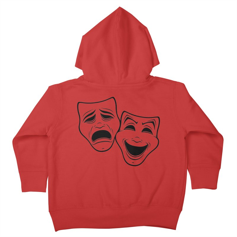 Comedy And Tragedy Theater Masks Black Line Kids Toddler Zip-Up Hoody by Fizzgig's Artist Shop