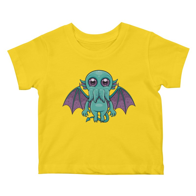 Cute Baby Cthulhu Monster Kids Baby T-Shirt by Fizzgig's Artist Shop