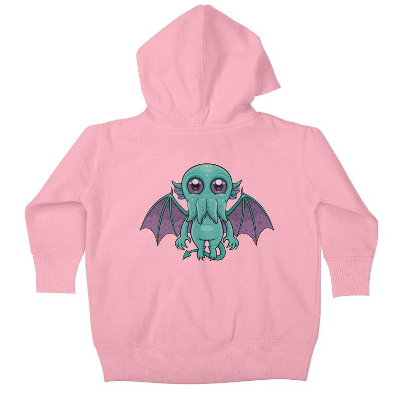 Cute Baby Cthulhu Monster Kids Baby Zip-Up Hoody by Fizzgig's Artist Shop