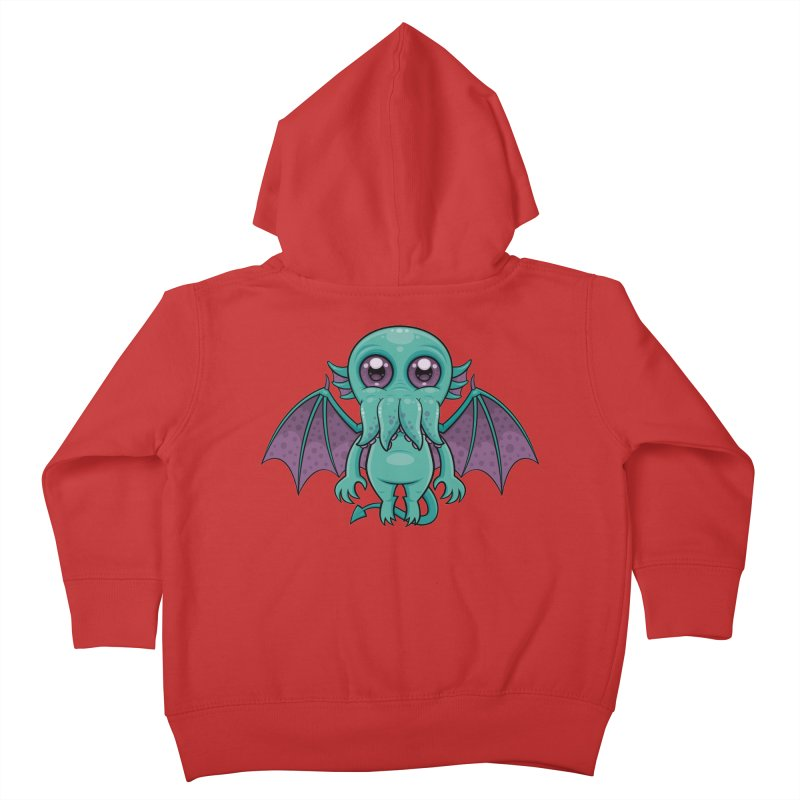 Cute Baby Cthulhu Monster Kids Toddler Zip-Up Hoody by Fizzgig's Artist Shop