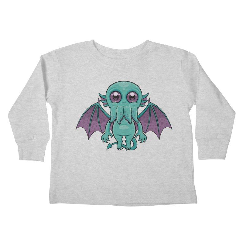 Cute Baby Cthulhu Monster Kids Toddler Longsleeve T-Shirt by Fizzgig's Artist Shop