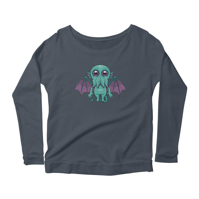 Cute Baby Cthulhu Monster Women's Longsleeve T-Shirt by Fizzgig's Artist Shop