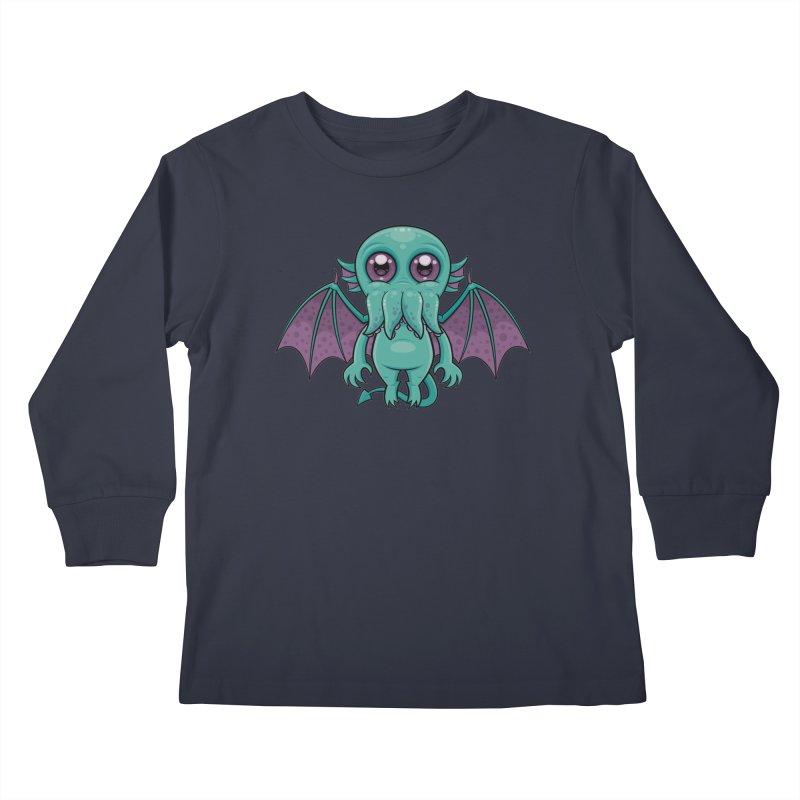 Cute Baby Cthulhu Monster Kids Longsleeve T-Shirt by Fizzgig's Artist Shop
