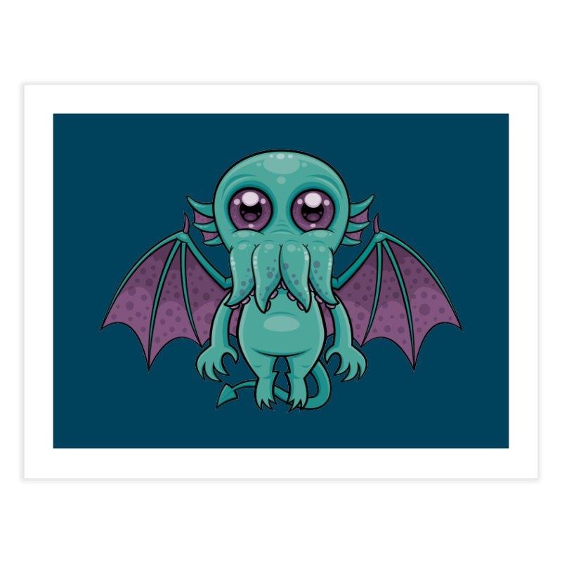 Cute Baby Cthulhu Monster Home Fine Art Print by Fizzgig's Artist Shop