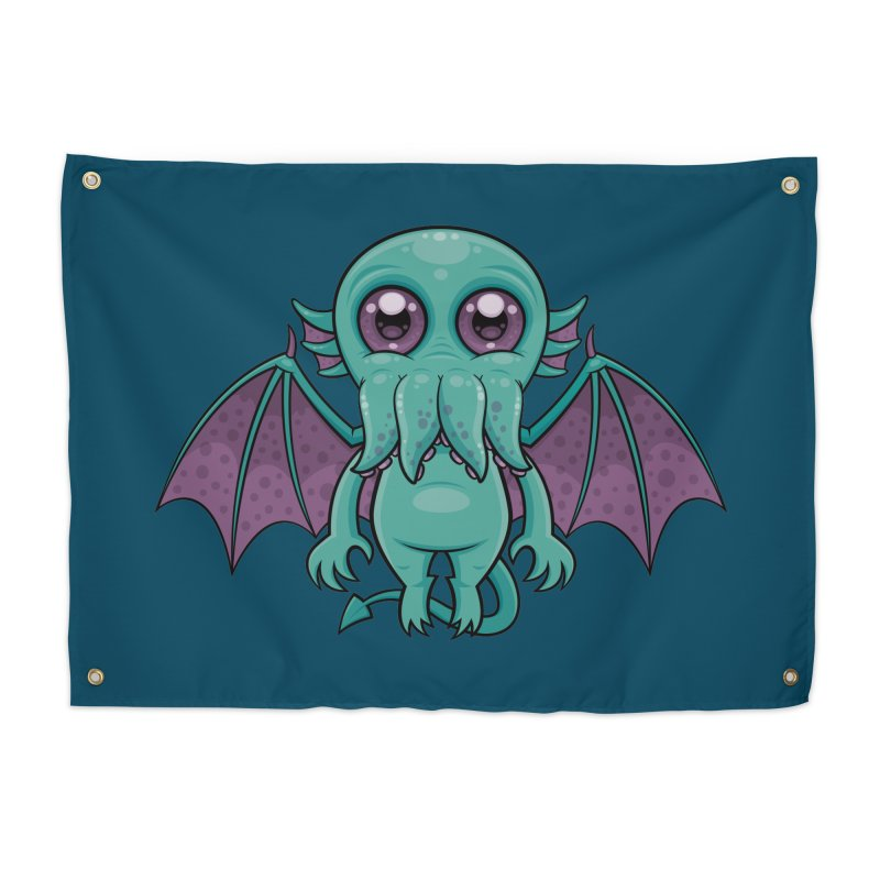 Cute Baby Cthulhu Monster Home Tapestry by Fizzgig's Artist Shop