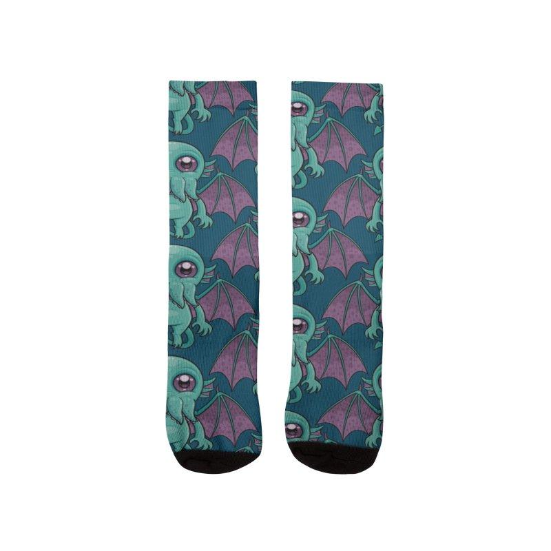 Cute Baby Cthulhu Monster Women's Socks by Fizzgig's Artist Shop