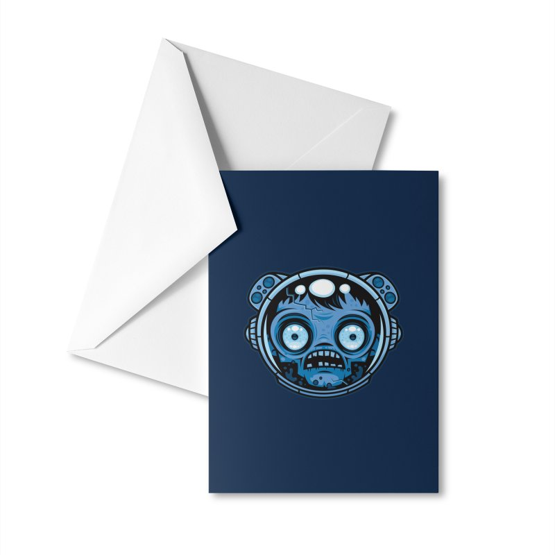 Zombie Astronaut Accessories Greeting Card by Fizzgig's Artist Shop