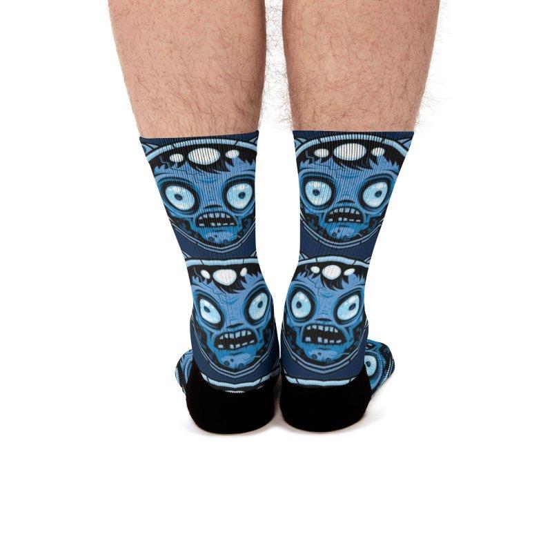 Zombie Astronaut Men's Socks by Fizzgig's Artist Shop