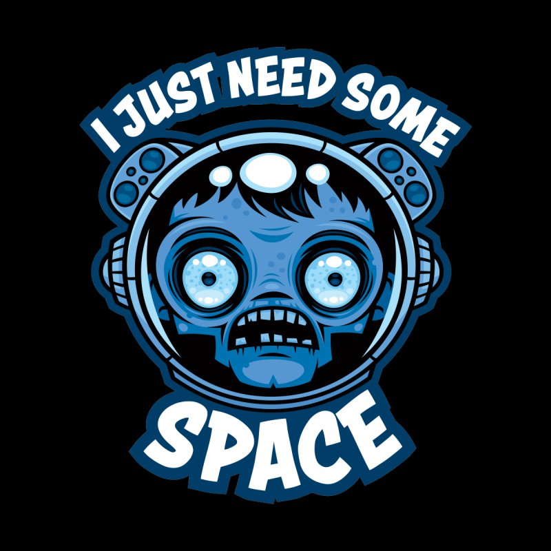 Zombie Astronaut Needs Some Space Women's Pullover Hoody by Fizzgig's Artist Shop
