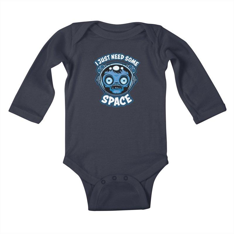 Zombie Astronaut Needs Some Space Kids Baby Longsleeve Bodysuit by Fizzgig's Artist Shop