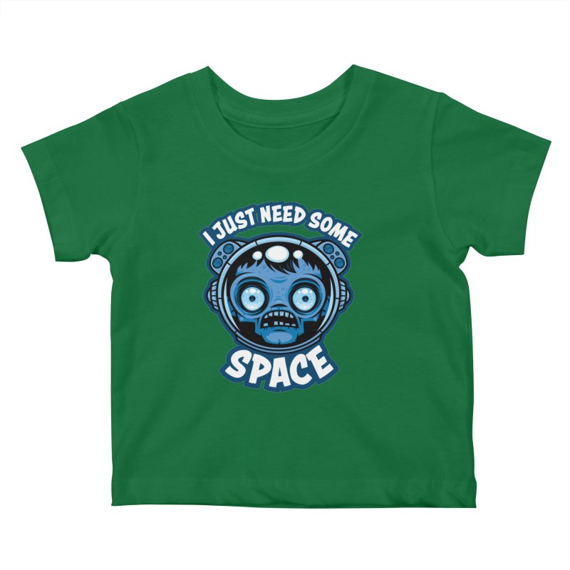 Zombie Astronaut Needs Some Space Kids Baby T-Shirt by Fizzgig's Artist Shop