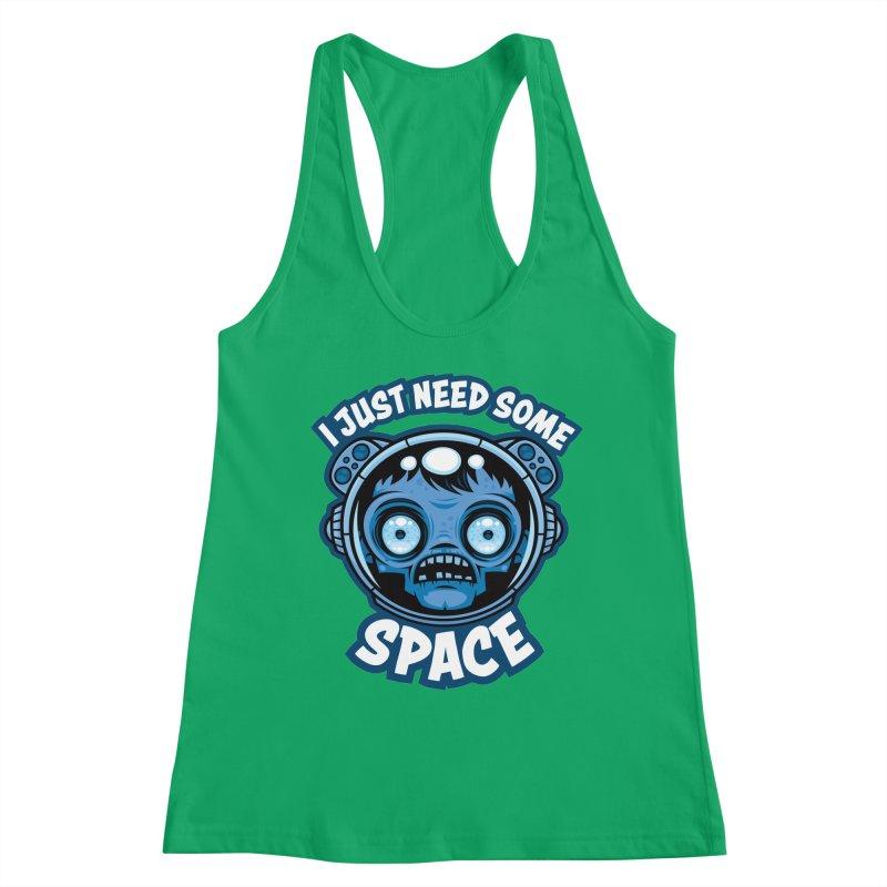 Zombie Astronaut Needs Some Space Women's Tank by Fizzgig's Artist Shop