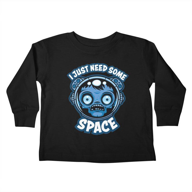 Zombie Astronaut Needs Some Space Kids Toddler Longsleeve T-Shirt by Fizzgig's Artist Shop