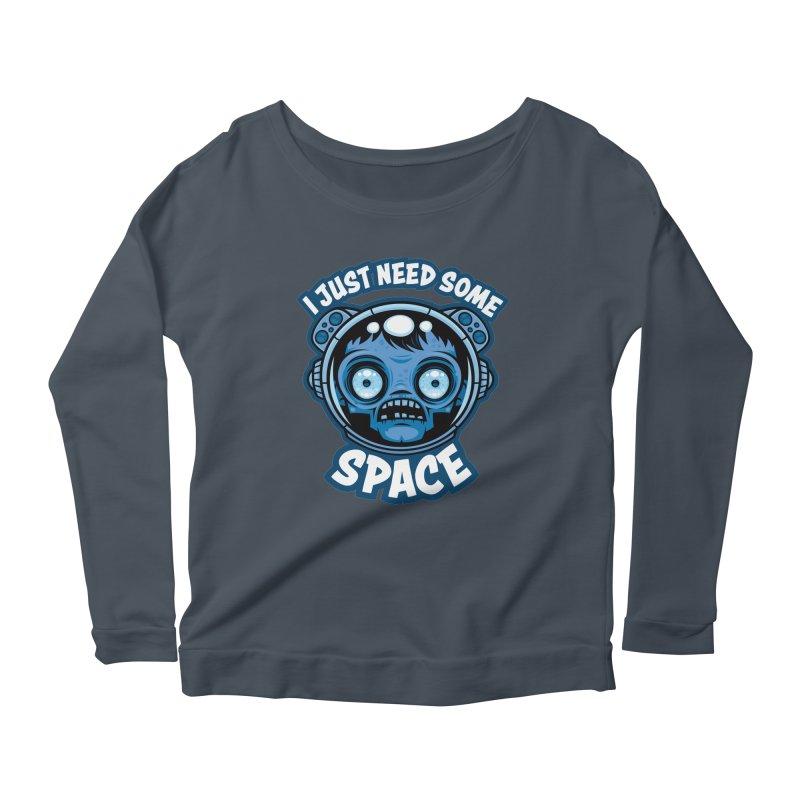 Zombie Astronaut Needs Some Space Women's Longsleeve T-Shirt by Fizzgig's Artist Shop