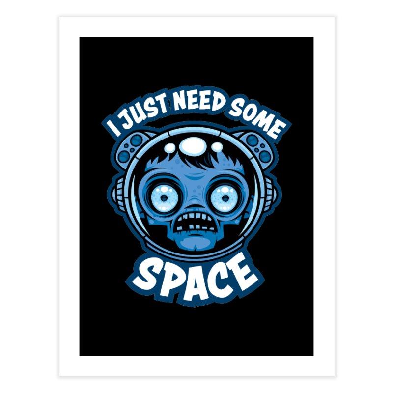 Zombie Astronaut Needs Some Space Home Fine Art Print by Fizzgig's Artist Shop