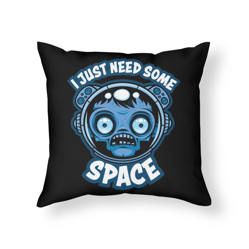 Zombie Astronaut Needs Some Space Home Throw Pillow by Fizzgig's Artist Shop