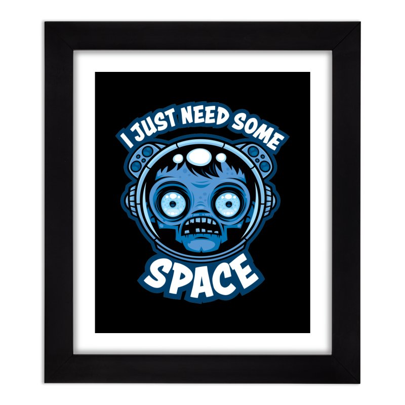 Zombie Astronaut Needs Some Space Home Framed Fine Art Print by Fizzgig's Artist Shop