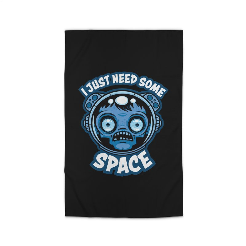 Zombie Astronaut Needs Some Space Home Rug by Fizzgig's Artist Shop