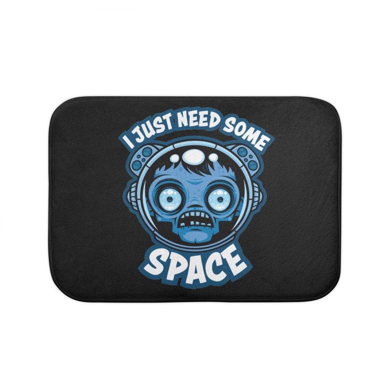 Zombie Astronaut Needs Some Space Home Bath Mat by Fizzgig's Artist Shop