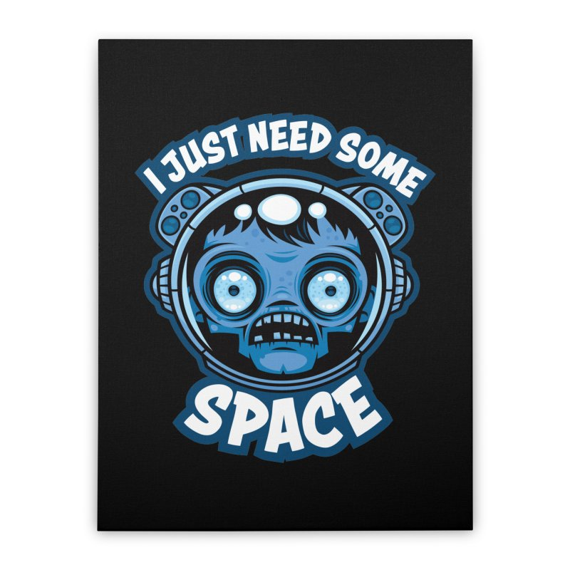 Zombie Astronaut Needs Some Space Home Stretched Canvas by Fizzgig's Artist Shop