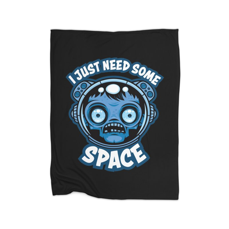 Zombie Astronaut Needs Some Space Home Blanket by Fizzgig's Artist Shop