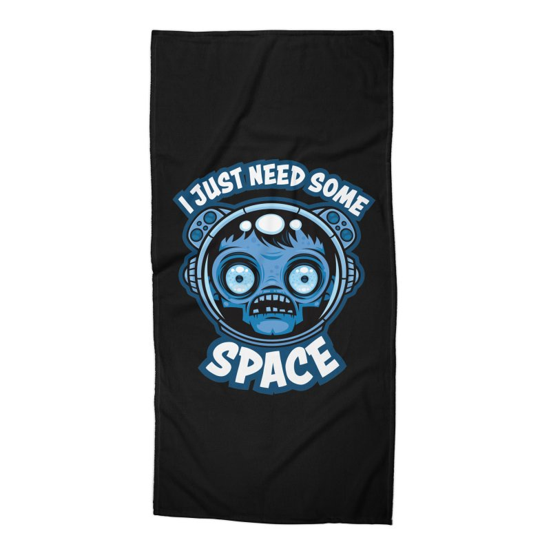 Zombie Astronaut Needs Some Space Accessories Beach Towel by Fizzgig's Artist Shop