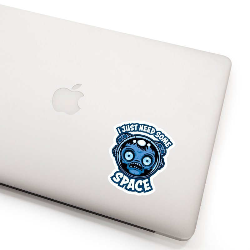 Zombie Astronaut Needs Some Space Accessories Sticker by Fizzgig's Artist Shop