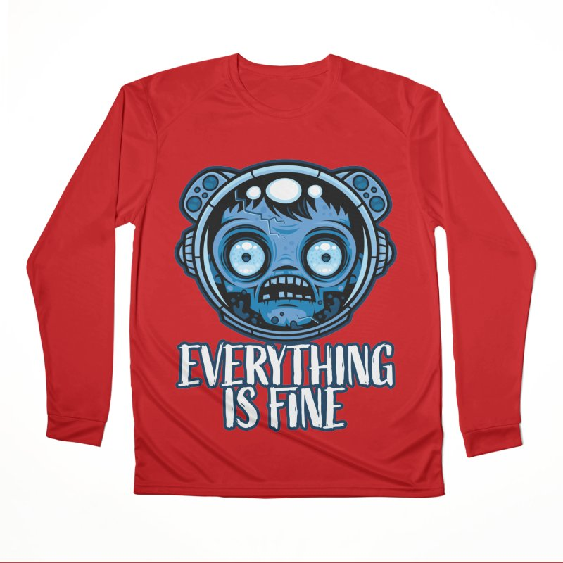 Zombie Astronaut Is Fine Women's Longsleeve T-Shirt by Fizzgig's Artist Shop