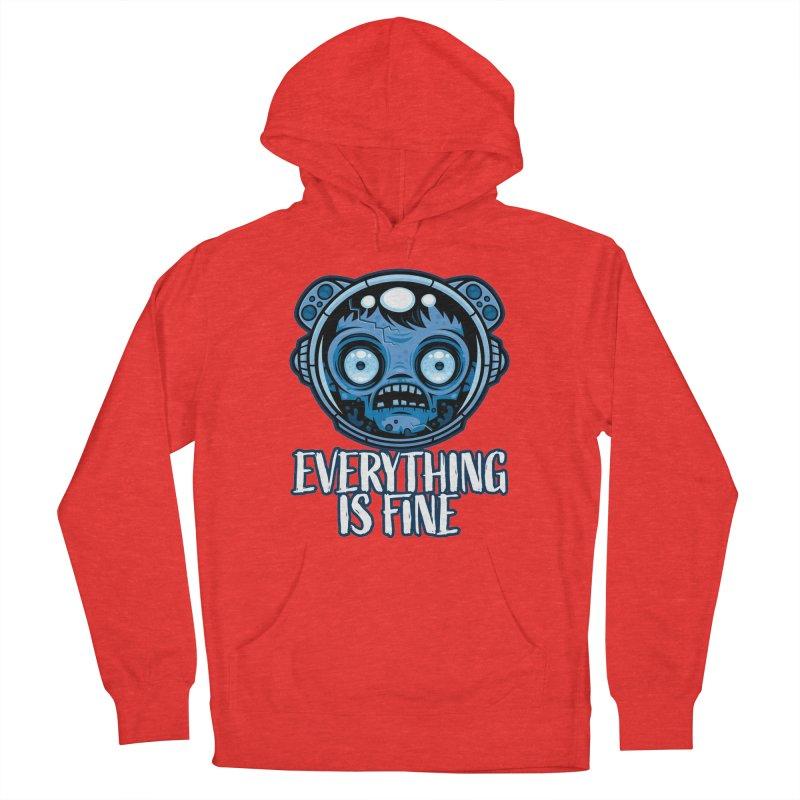 Zombie Astronaut Is Fine Men's Pullover Hoody by Fizzgig's Artist Shop