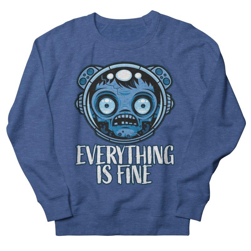 Zombie Astronaut Is Fine Men's Sweatshirt by Fizzgig's Artist Shop