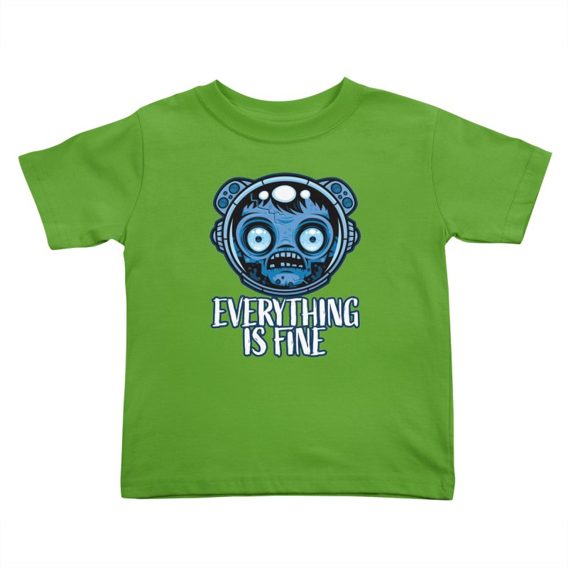 Zombie Astronaut Is Fine Kids Toddler T-Shirt by Fizzgig's Artist Shop