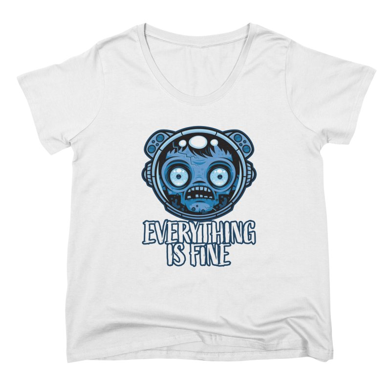 Zombie Astronaut Is Fine Women's Scoop Neck by Fizzgig's Artist Shop