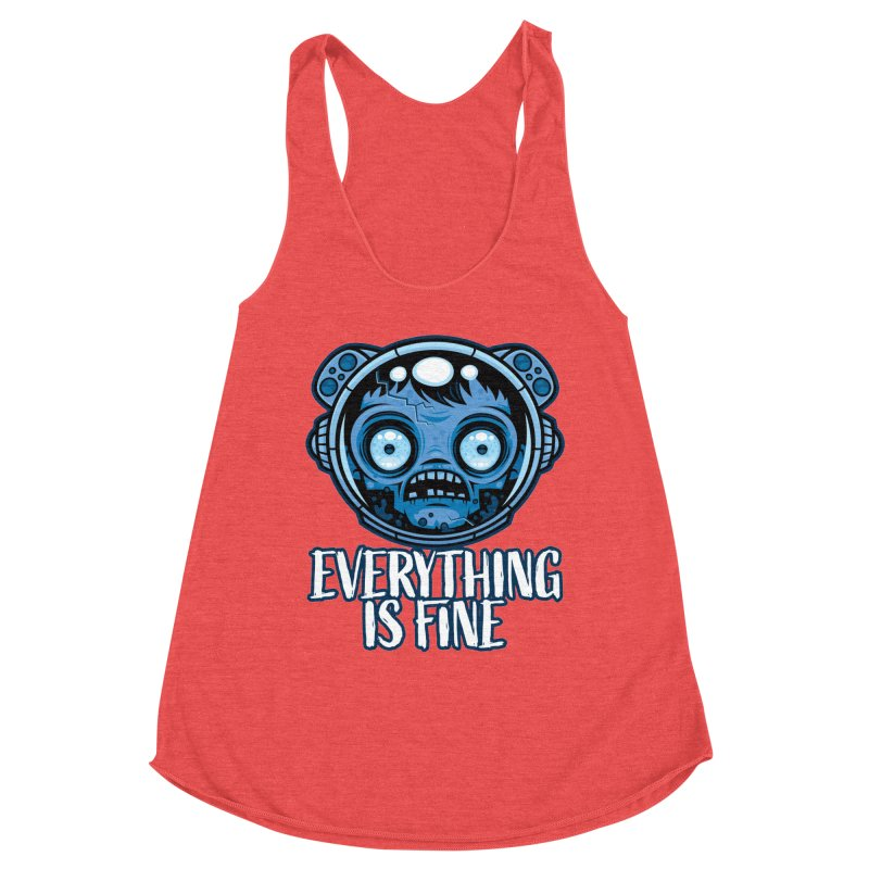 Zombie Astronaut Is Fine Women's Tank by Fizzgig's Artist Shop