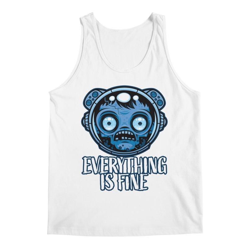 Zombie Astronaut Is Fine Men's Tank by Fizzgig's Artist Shop