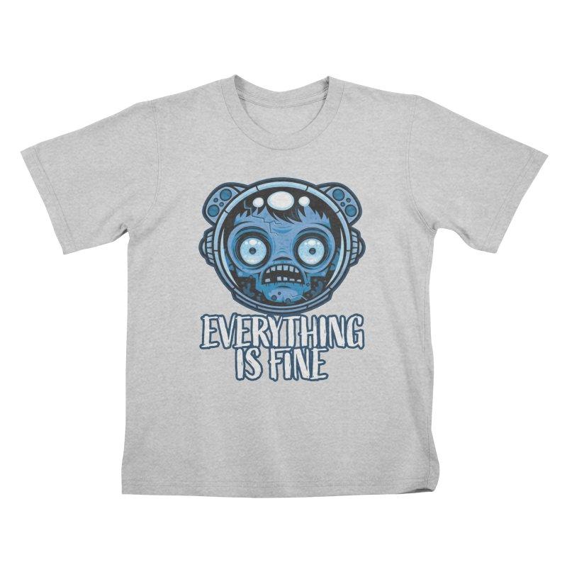 Zombie Astronaut Is Fine Kids T-Shirt by Fizzgig's Artist Shop