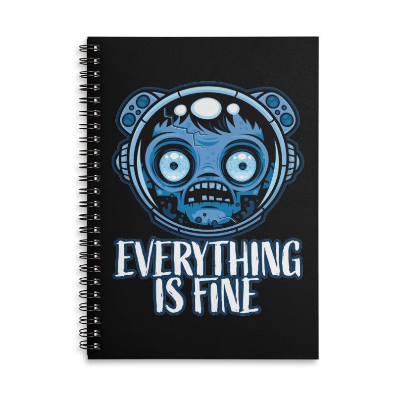 Zombie Astronaut Is Fine Accessories Notebook by Fizzgig's Artist Shop