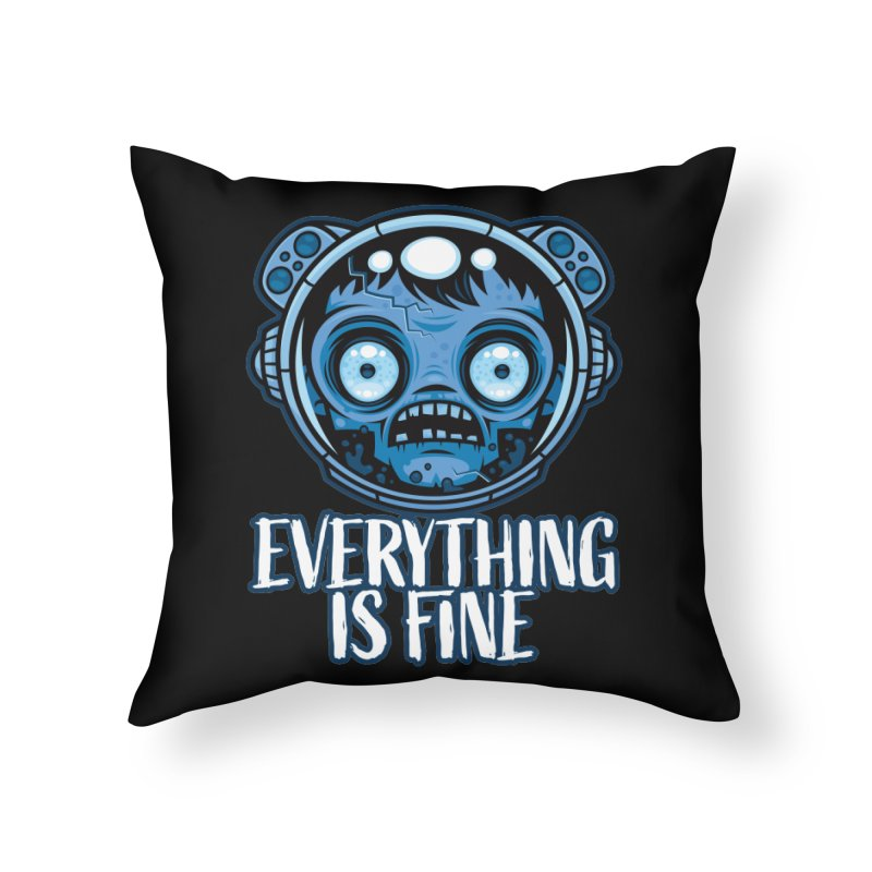 Zombie Astronaut Is Fine Home Throw Pillow by Fizzgig's Artist Shop