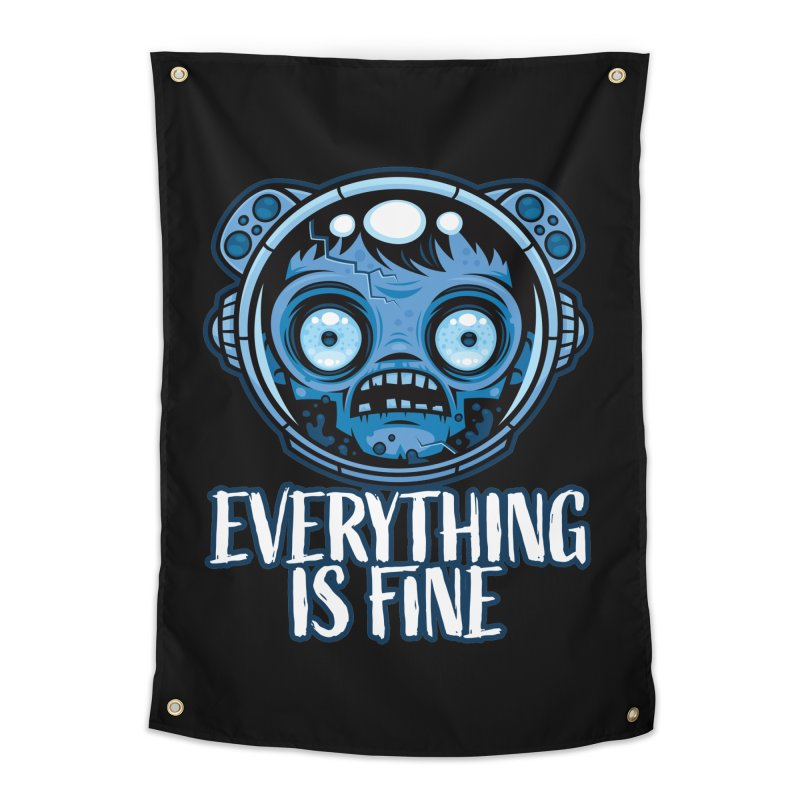 Zombie Astronaut Is Fine Home Tapestry by Fizzgig's Artist Shop