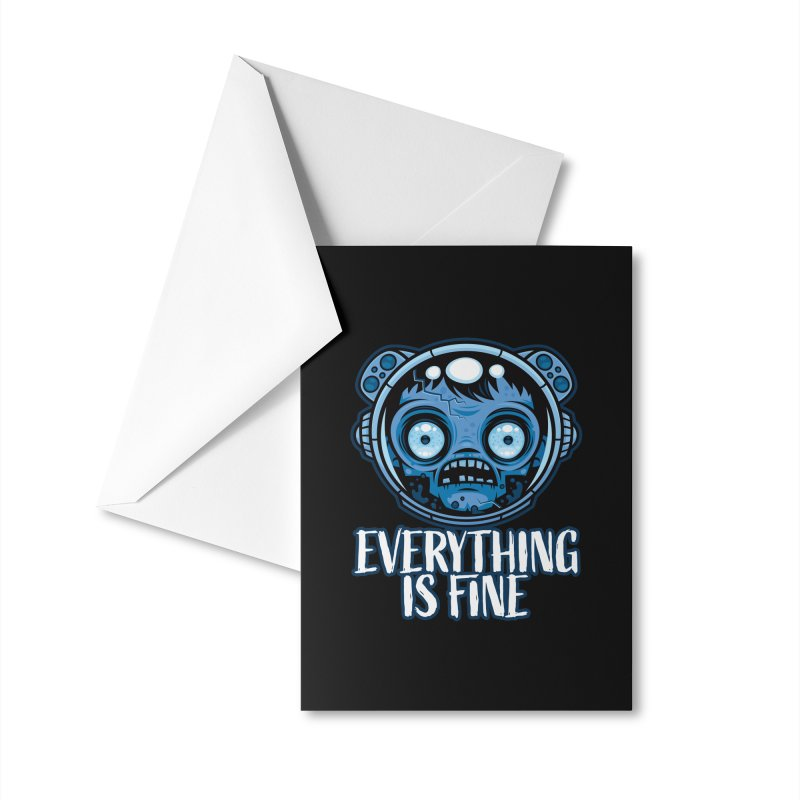 Zombie Astronaut Is Fine Accessories Greeting Card by Fizzgig's Artist Shop