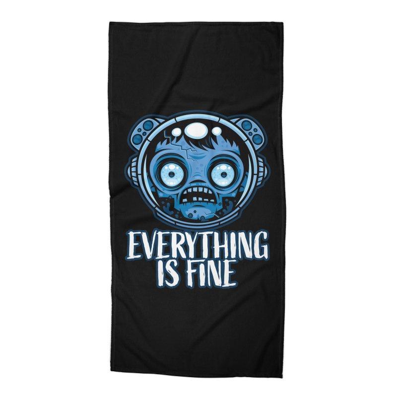 Zombie Astronaut Is Fine Accessories Beach Towel by Fizzgig's Artist Shop
