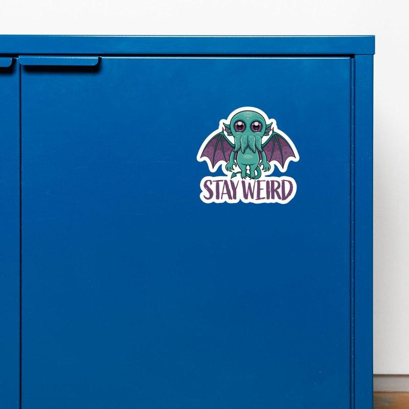 Stay Weird Cute Cthulhu Monster Accessories Magnet by Fizzgig's Artist Shop