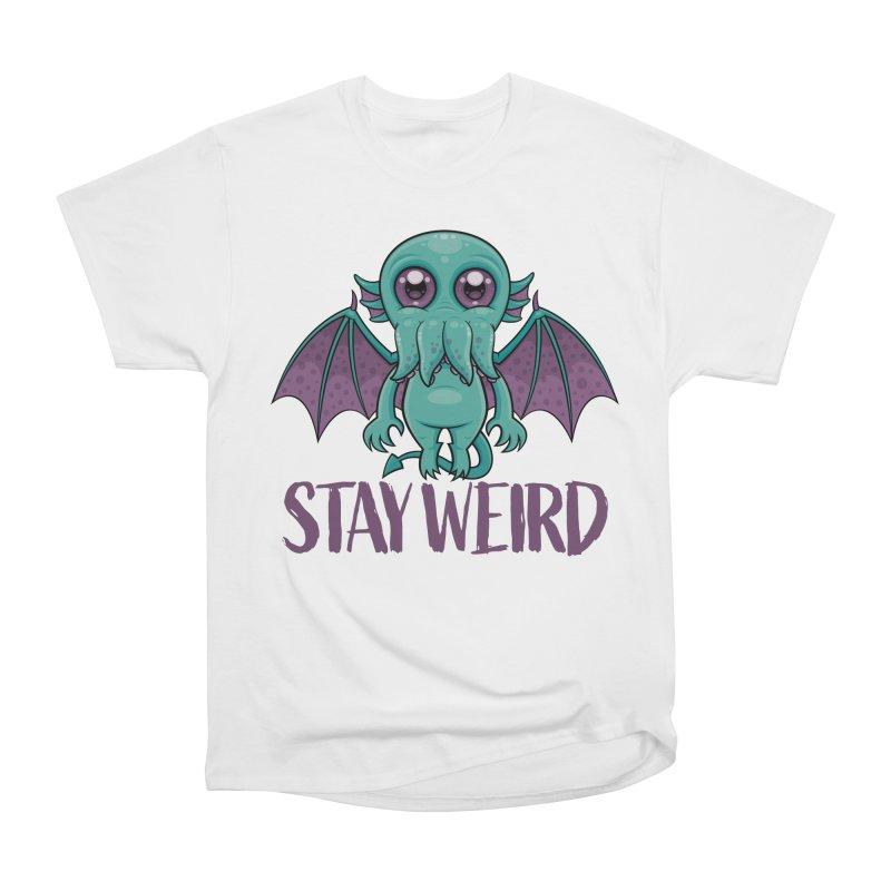 Stay Weird Cute Cthulhu Monster Women's T-Shirt by Fizzgig's Artist Shop